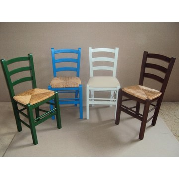 Professional Traditional Wooden Chair Sifnos for Restaurant, Cafe, Tavern, Bistro, Pub, gastro