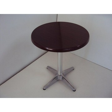 Professional  Table with Werzalit and aluminum base for Cafes, Bistro, Pub, Cafeterias, traditional coffee shops