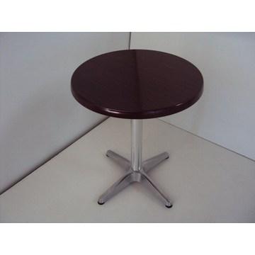 Table professionnelle avec Werzalit et base en aluminium pour cafés, bistros, pubs, cafétérias, cafés traditionnels