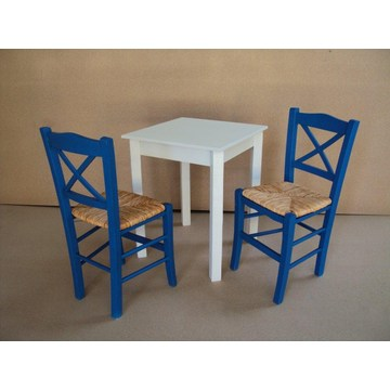 Table en bois traditionnelle pour Cafe, Ouzeri, Restaurant, Taverne, Café, Bistro, Pub, Gastro, Cafe Bar