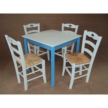 Table traditionnelle en bois pour café Restaurant Tavern Cafétéria Ouzo Cafe Bar (80 × 80)