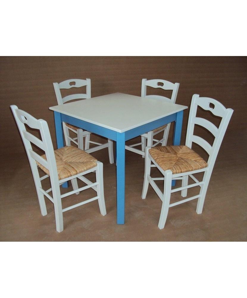 Традиционный деревянный стол для кафе Ресторан Таверна Кафе Ouzo Cafe Bar (80 × 80)