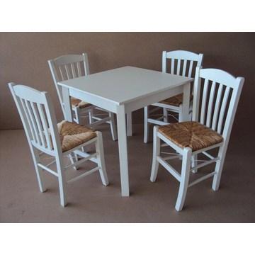 Table classique en bois traditionnel Café Bistro Pub Cafétéria Restaurant Tavern Gastro Cafe Bar (taille 80 × 80)