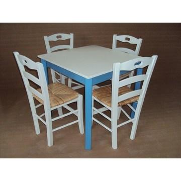 Traditional Wooden Table for Cafe, Ouzeri, Bistro, Pub, Cafeteria, Restaurant, Tavern, Gastro, Cafe Bar