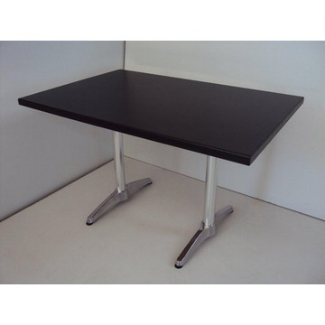Professional Wooden Table with aluminum base for Cafes, Restaurant, Cafeterias, Gastronomy, Bistro