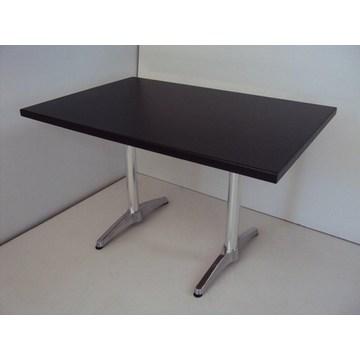 Table en bois professionnelle avec base en aluminium pour cafés, restaurants, cafétérias, gastronomie, bistro
