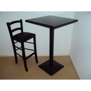 Profesjonalne drewniane stoły Cafe Bar z żeliwną podstawą do Bistro, Pubu, Kawiarni, Cafe-Bar, Cafe -Restaurant, Tavern