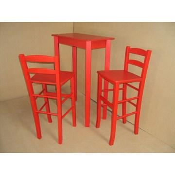 Profesjonalne drewniane wysokie stoły barowe, wysokie stoły do barów-restauracji, wysoki stół barowy do kawiarni