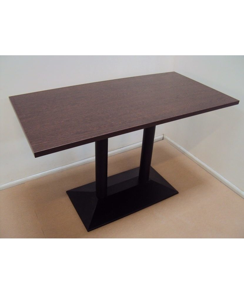 Профессиональный деревянный стол с чугунной основой