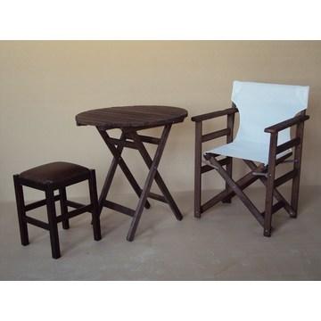 Profesjonalny drewniany stolik składany do kawiarni, basenu, bistro, pubu, kafeterii, restauracji, tawerny