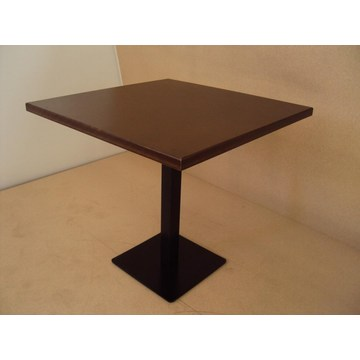 Professional Wooden Table with Cast iron base and Walnut Glaze for Cafe Bar