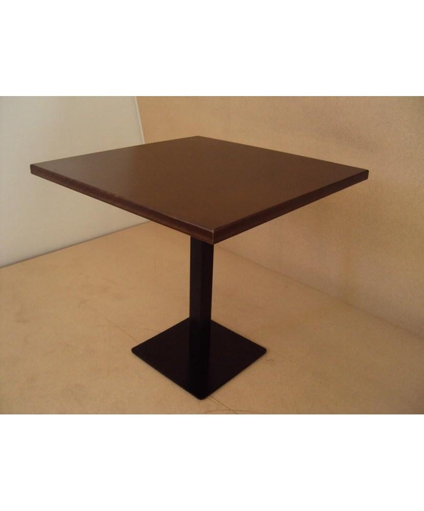 Профессиональный деревянный стол с чугунной основой и глазурью из ореха для кафе-бара