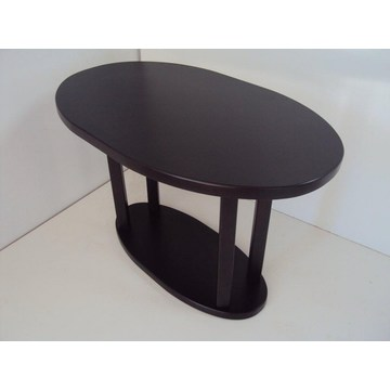 Professional Wooden Oval Table Cafe Cafeteria Restaurant Tavern