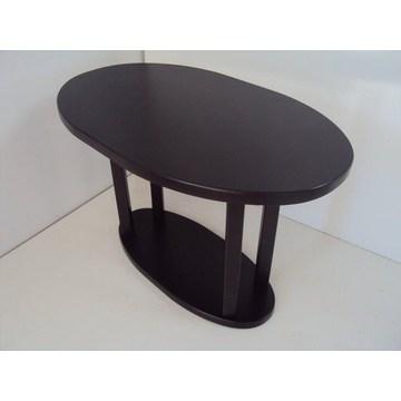 Table d'ovale professionnelle en bois Café Cafétéria Restaurant Tavern