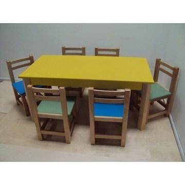 Профессиональный детский деревянный стол для детских садов и детских садов