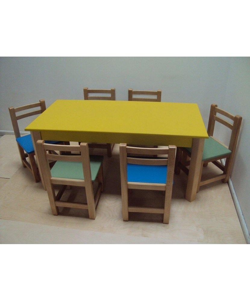Mese din lemn profesionist pentru copii pentru grădinițe și grădinițe