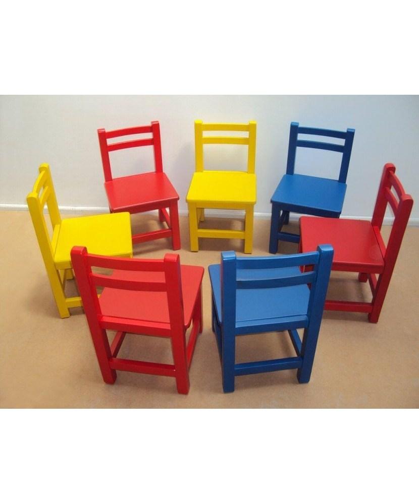 Scaun pentru copii din lemn pentru copii adecvat pentru grădinițe și grădinițe