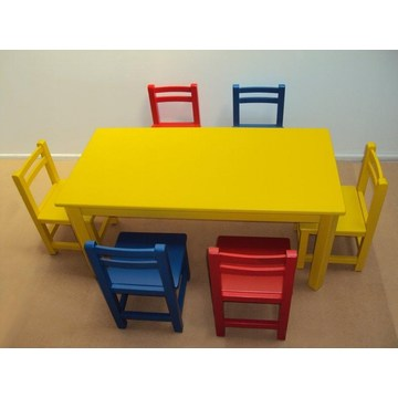 Table de jardin professionnelle pour enfants pour les crèches et jardins d'enfants