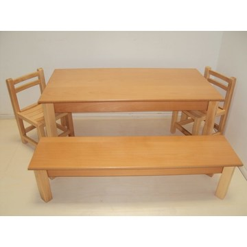 Professional Children's Wooden Table and bench  for nurseries and kindergartens