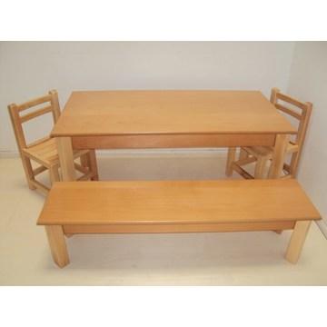 Professioneller Kinder-Tisch aus Holz und Bank für Kindergärten und Kindergärten