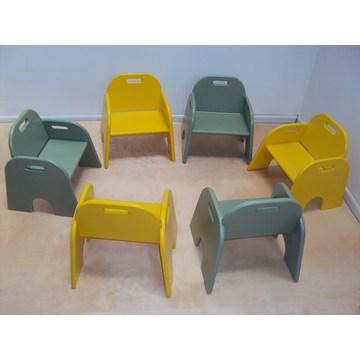 Profesjonalny dziecięcy drewniany fotel dziecięcy € 39 lakier odpowiedni do Wyposażenie szkółek i przedszkoli