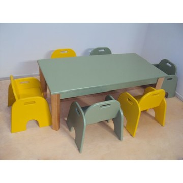 Professional Children's Wooden Baby Table and bench