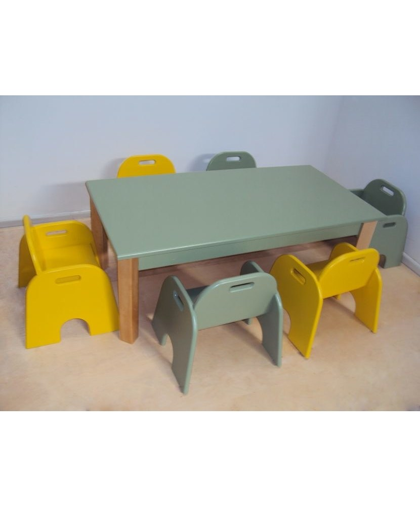 Pătuț copil de masă profesională pentru copii și bancă