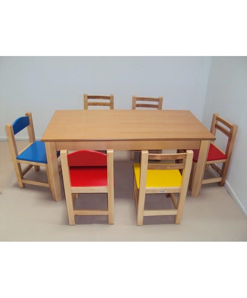Mese din lemn profesionale pentru copii și bancă