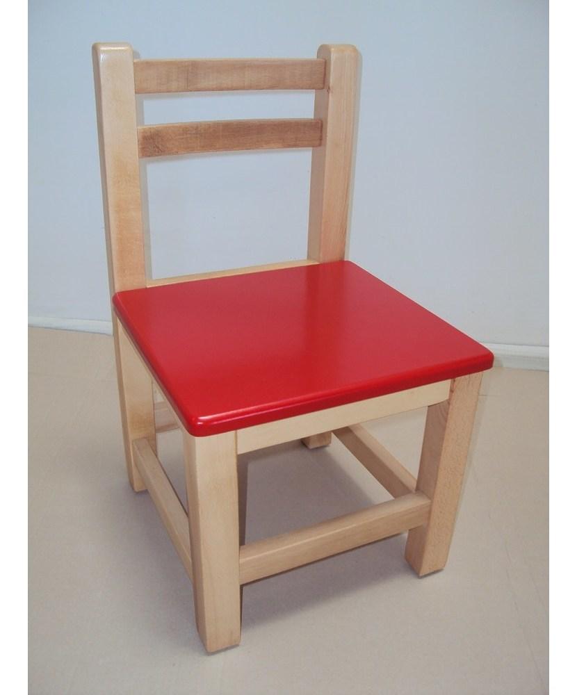 Профессиональный детский деревянный детский стул € 23 лак