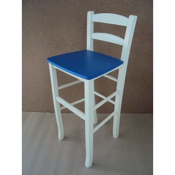 Professional Wooden Stool Sifnos for Bar - Restaurant, Cafe, Tavern, Cafeteria, Stools, Coffee shops, coffee bars
