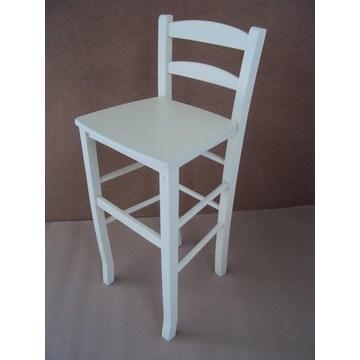 Profesjonalny drewniany stołek Sifnos do baru - restauracja, kawiarnia, tawerna, stołki, kawiarnie, kawiarnie