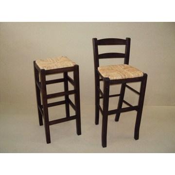 Profesjonalny drewniany stołek Sifnos do baru - restauracja, kawiarnia, tawerna, stołki kawiarniane, kawiarnie