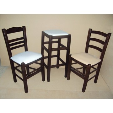 Professional Wooden Stool without back for Bar - Restaurant, Cafe, Tavern, Gastro, Cafeteria