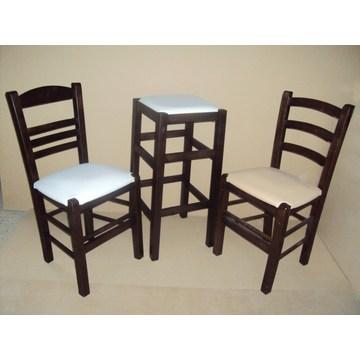 Профессиональный деревянный стул без спинки для бара - ресторан, кафе, таверна, гастро, кафетерий
