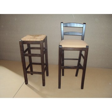 Professional Wooden Stool Sifnos  for Bar - Restaurant, Cafe, Tavern, Stools Coffee shops, coffee bars