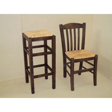 Профессиональный деревянный стул без спинки для бара - ресторан, кафе, таверна, табуреты Кофейни