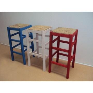 Profesjonalny drewniany stołek bez pleców na bar - restauracja, kawiarnia, tawerna, stołki, kawiarnie, kawiarnie