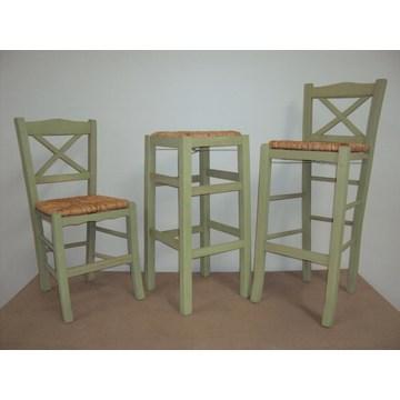 Profesjonalny drewniany stołek Chios do baru - restauracja, kawiarnia, tawerna, stołki, kawiarnie, kawiarnie
