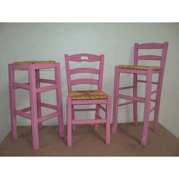 Professional Wooden Stool Sifnos  for Bar- Restaurant, Cafe, Tavern,  Stools Coffee shops, coffee bars