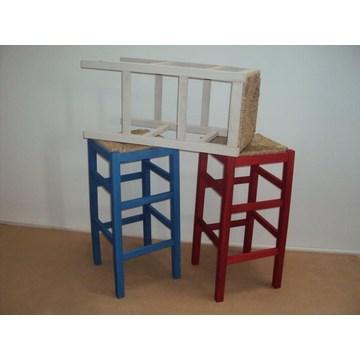 Scaun profesional din lemn fără spate pentru Bar- Restaurant, Cafe, Tavernă, Taburete Cafenele, cafenele.