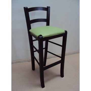 Profesjonalny drewniany stołek Sifnos do baru-restauracji, kawiarni, tawerny, stołków kawiarni, kawiarni