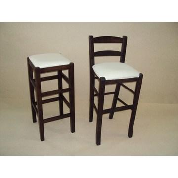 Profesjonalny drewniany stołek Sifnos do baru - restauracja, kawiarnia, bistro, pub, tawerna, stołki, kawiarnie, kawiarnie