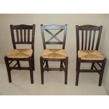 Professional Traditional Wooden Chair Sikinos, Chios, Imvros  for Restaurant, Coffe, Tavern, Bistro, Pub, Gastro,
